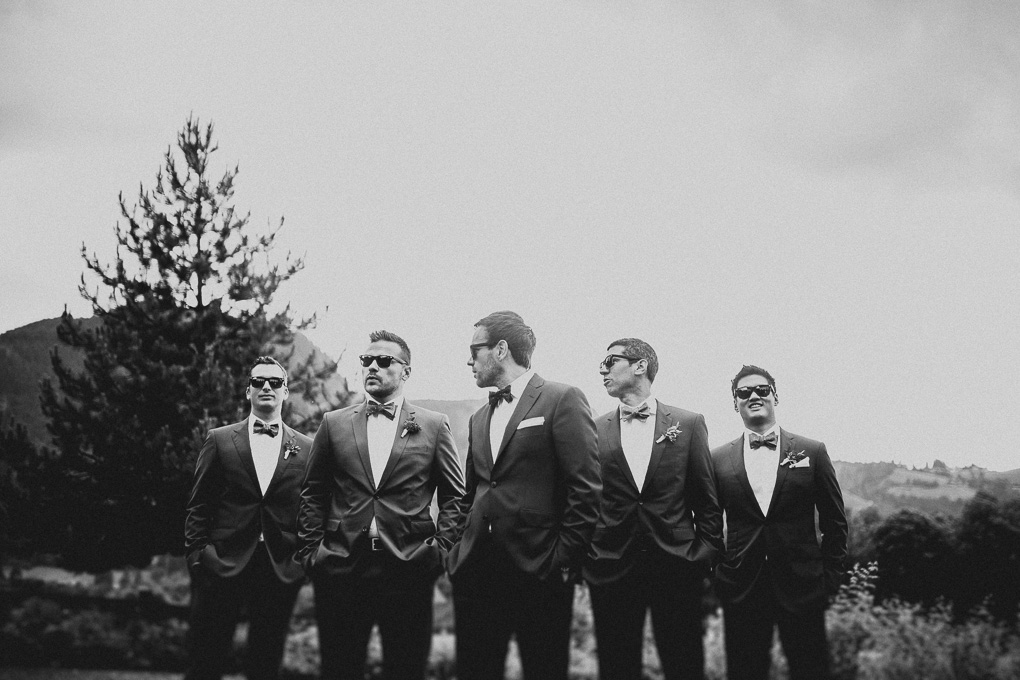 Trauzeugen Groomsmen Hochzeit im A-Rosa Kitzbühel
