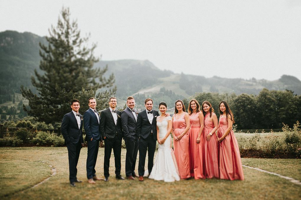Trauzeugen Brautjungfern Groomsmen Hochzeit im A-Rosa Kitzbühel