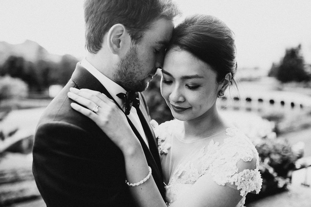 Brautpaar Portraits Hochzeitsfotograf im A-Rosa Kitzbühel
