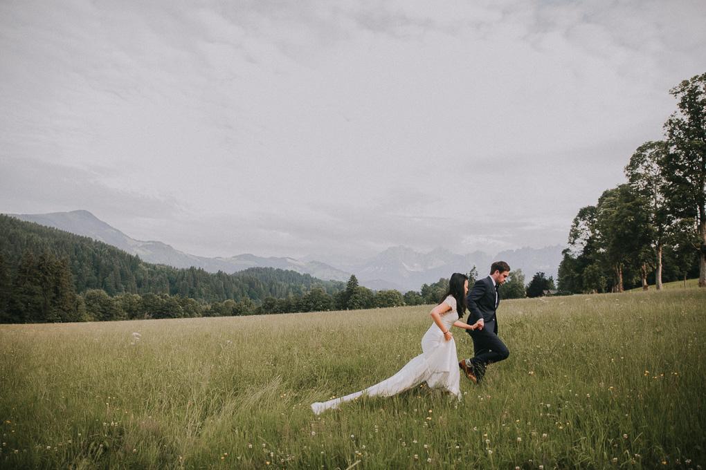After Wedding Shooting in Kitzbühel Österreich Berge