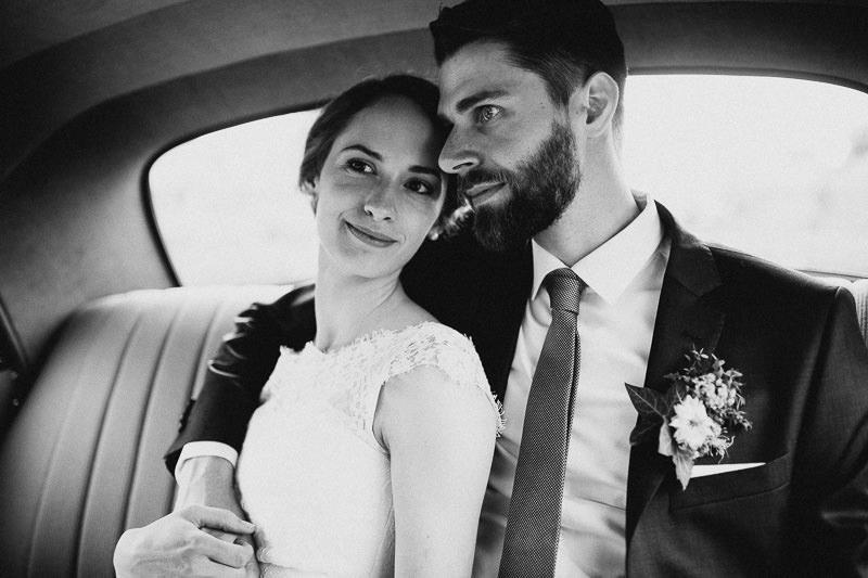 Hochzeit im Weingut am Nil Mannheim Brautauto