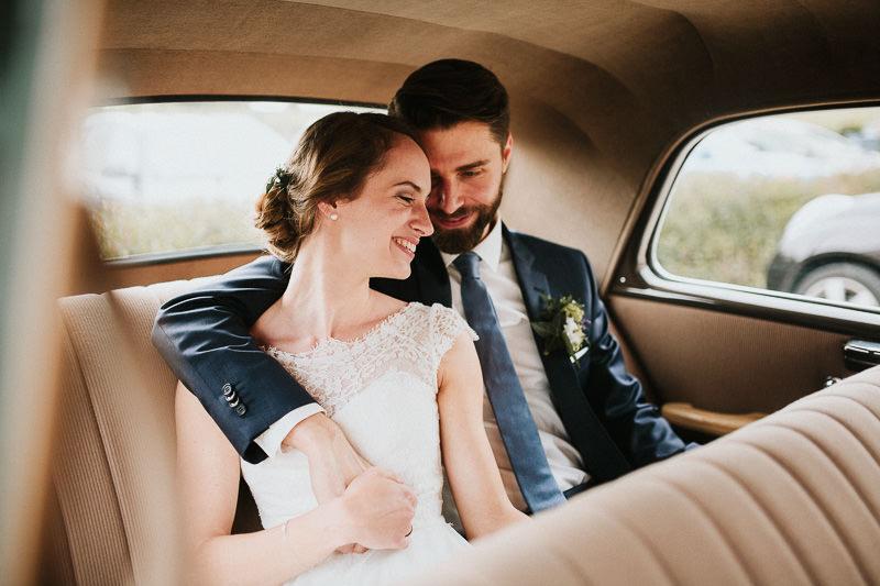Hochzeit im Weingut am Nil Hochzeitsfotograf Mannheim Brautauto