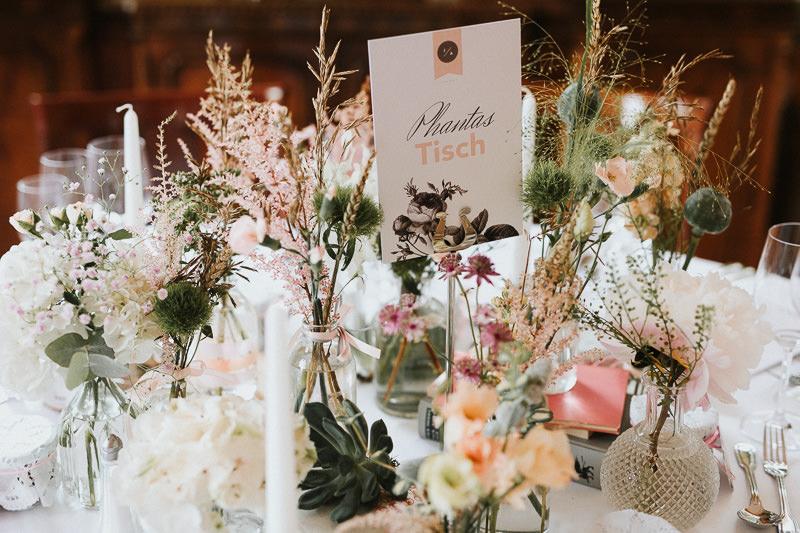 Tischdekoration Phantastisch Hochzeit in Berlin Schloss Ziethen
