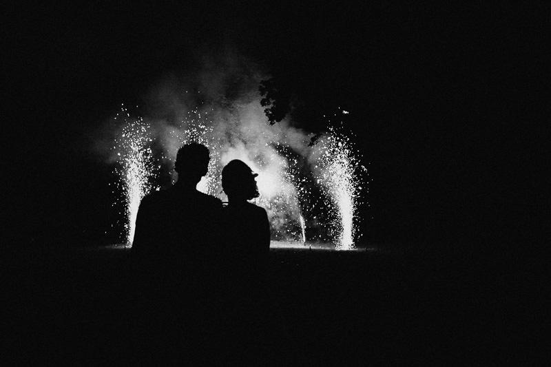 Hochzeit Feuerwerk in Berlin Schloss Ziethen