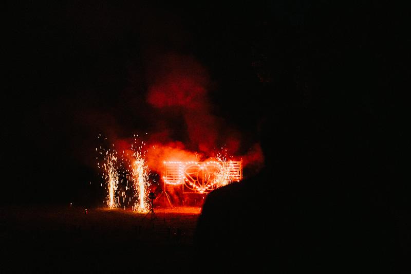 Hochzeit Berlin Schloss Ziethen Feuershow Feuerwerk