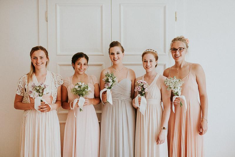 Hochzeitsfotograf Kiel Hamburg Brautjungfern Kleider
